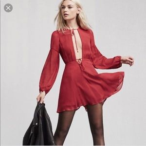 Reformation Bella dress raspberry sz 2 never worn